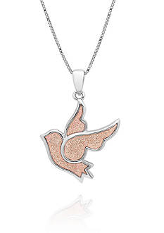 Belk & Co. Sterling Silver Pink Dove Pendant
