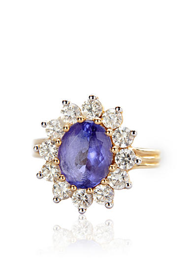 Belk & Co. 14k Yellow Gold Tanzanite and Diamond Ring <br>