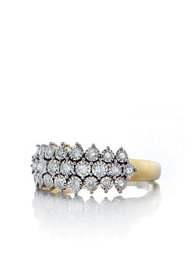 Belk & Co. Diamond Cluster Ring in 10k Yellow Gold