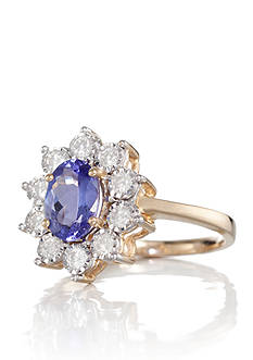 Belk & Co. 10k Yellow Gold Tanzanite and Diamond Ring