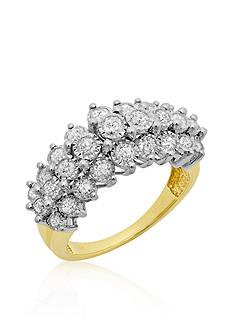 Belk & Co. Diamond Illusion Pyramid Ring in 14k Yellow Gold