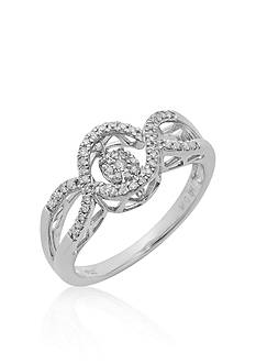 Move My Heart Diamond Ring in Sterling Silver