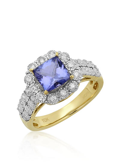 Belk & Co. Tanzanite and Diamond Ring in 10k Yellow Gold