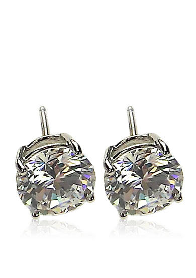 Belk & Co. Platinum Plated Sterling Silver Cubic Zirconia Earring
