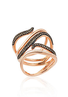 Le Vian Chocolate Diamond® Ring in 14k Strawberry Gold® - Belk Exclusive