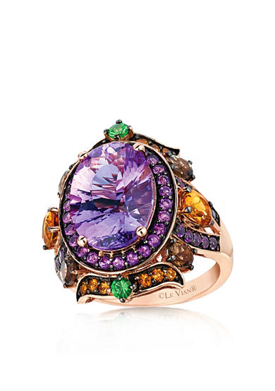 Le Vian® Amethyst Strawberry Gold Oval Ring with Multi Color Stones - Belk Exclusive