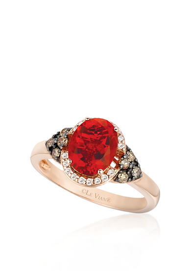 Le Vian® 14k Strawberry Gold® Neon Tangerine Fire Opal® and Chocolate Diamond® and Vanilla Diamond® Ring - Belk Exclusive