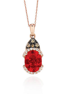 Le Vian Neon Tangerine Fire Opal®, Chocolate Diamonds® and Vanilla Diamonds® Pendant - Belk Exclusive