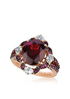 Le Vian 14k Strawberry Gold® Pomegranate Garnet™, Ocean Blue Topaz™, Pink Tourmaline™ and Cotton Candy Am