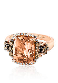 Le Vian 14k Strawberry Gold® Morganite, Chocolate Diamond®, and Vanilla Diamond® Ring - Belk Exclusive