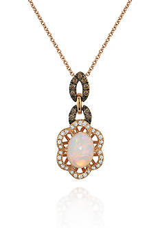 Le Vian Spumoni™ Opal, Chocolate Diamond®, and Vanilla Diamond® Pendant in 14k Strawberry Gold® - Belk Excl