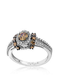 Le Vian® Chocolate Diamond® and Vanilla Diamond™ Ring in 14k Vanilla Gold™ - Belk Exclusive