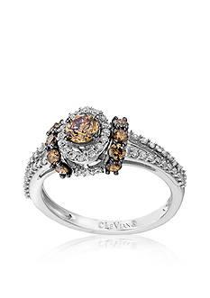 Le Vian® Chocolate Diamond® and Vanilla Diamond™ Ring in 14k Vanilla Gold™ - Belk Exclusive