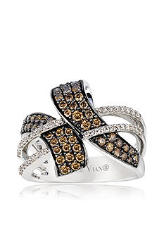 Le Vian Chocolate Diamond® and Vanilla Diamond™ Ring in 14k Vanilla Gold™ - Belk Exclusive
