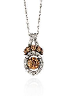 Le Vian Chocolate Diamond® and Vanilla Diamond® Pendant in 14k Vanilla Gold® - Belk Exclusive
