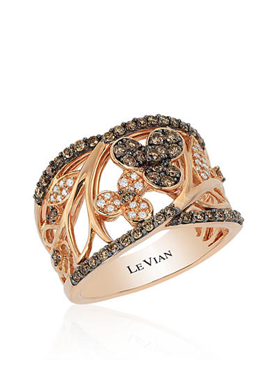 Le Vian® Chocolate Diamond® and Vanilla Diamond® Ring in 14k Strawberry Gold® - Belk Exclusive