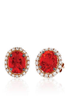 Le Vian 14k Strawberry Gold® Neon Tangerine Fire Opal® and Vanilla Diamond® Stud Earrings - Belk Exclusive