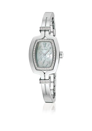 Le Vian® Women's Vanilla Diamonds#174; Silver-Tone Bangle Watch