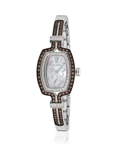 Le Vian® Women's Chocolate Diamond® Stainless Steel Bangle Watch