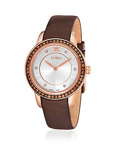 Le Vian Women's Zela 50 Rose Gold-Tone Watch