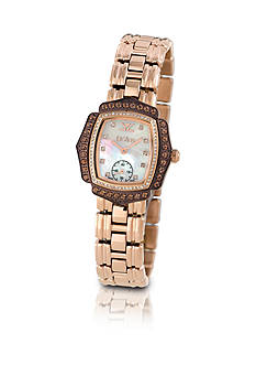 Le Vian® Women's Gold-Tone Vanilla Diamonds® and Chocolate Quartz Watch