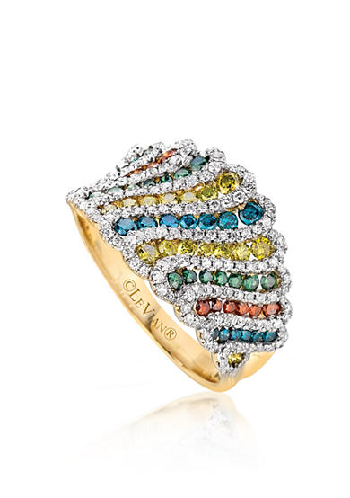 Le Vian® Mixberry Diamonds™ Wide Band in Honey Gold™ - Belk Exclusive
