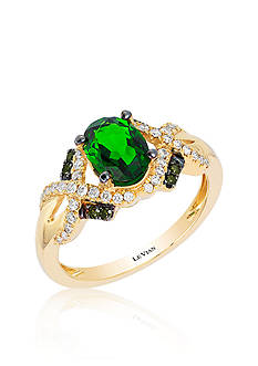 Le Vian Pistachio Diopside®, Vanilla Diamond® and Kiwiberry Green Diamond™ Accent Ring in 14k Honey Gold™