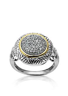 Belk & Co. Sterling Silver & 14k Diamond Ring