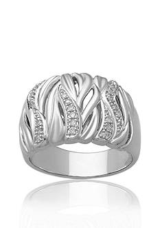 Belk & Co. Diamond Band Ring in Sterling Silver