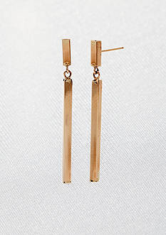 Belk & Co. 14k Yellow Gold Square Stick Earrings