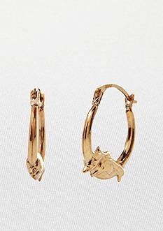 Belk & Co. 14k Yellow Gold Dolphin Hoop Earrings