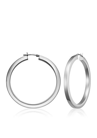 Belk & Co. Sterling Silver Square Tube Hoop Earrings