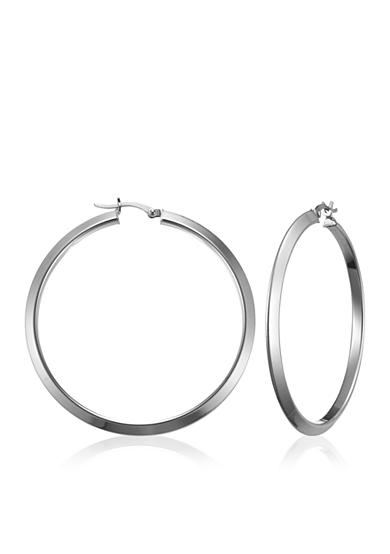 Belk & Co. Sterling Silver Triangular Tube Hoop Earrings