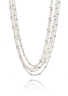 Belk & Co. Sterling Silver 5 Strand Beaded Necklace