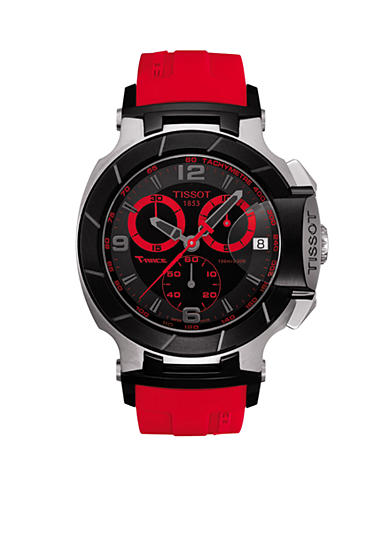 Tissot T-Race Men's Black & Red Quartz Chronograph Rubber Watch