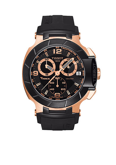 Tissot Black Quartz Chronograph Rubber Watch
