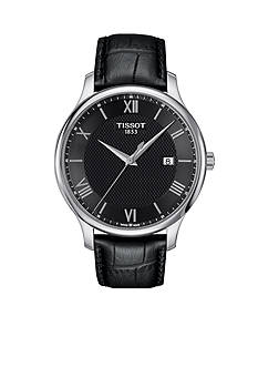 Tissot Tradition Men's Quartz Black Dial Leather Watch