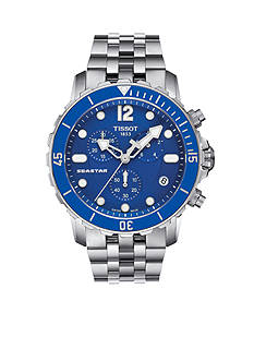 Tissot Men's Seastar Quartz Stainless Steel Blue Watch