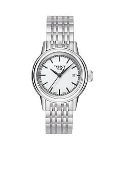 Tissot Women's Carson White Dial Stainless Steel Bracelet Watch