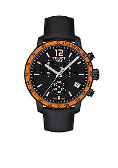 Tissot Men's Quickster Quartz Chronograph Black and Orange Watch