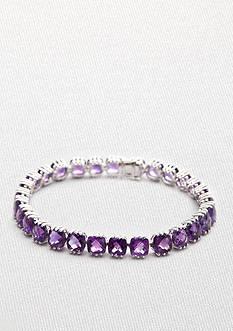 Belk & Co. Sterling Silver Amethyst Bracelet