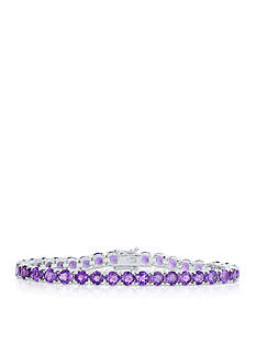 Belk & Co. Amethyst Bracelet in Sterling Silver