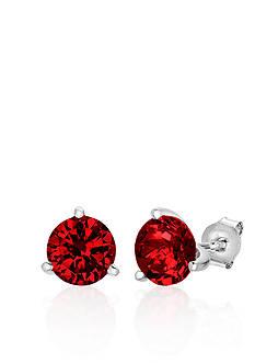 Belk & Co. Sterling Silver Created Ruby Stud Earrings