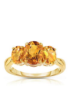 Belk & Co. Citrine Ring in 10k Yellow Gold