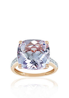 Belk & Co. 14k Rose Gold Pink Amethyst and Diamond Ring