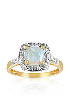 Belk & Co. 14k Yellow Gold Opal and Diamond Ring