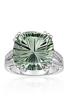 Belk & Co. Sterling Silver Green Amethyst Ring