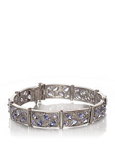 Belk & Co. Sterling Silver Tanzanite and Diamond Bracelet