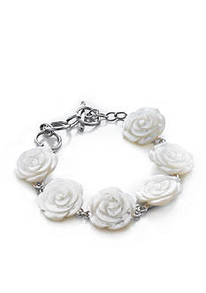 Belk & Co. Sterling Silver Mother of Pearl Rose Bracelet