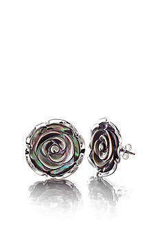 Belk & Co. Sterling Silver Mother of Pearl Rose Earrings
